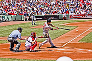 Red Sox Metal Prints - Strike One Metal Print by Dennis Coates
