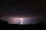 Lightning Storms Photo Prints - Strike Print by Reid Callaway