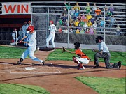 Batter Paintings - Strike by Timithy L Gordon