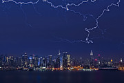 Lightning Storms Art - Strikes and Bolts in NYC by Susan Candelario