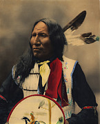 Shield Posters - Strikes With Nose Oglala Sioux Chief  Poster by Heyn Photo