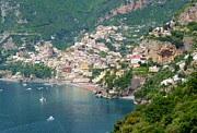 Positano Prints - Striking Beauty of Positano Print by Marilyn Dunlap