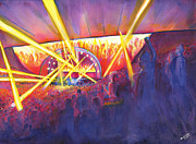 Band Painting Originals - String Cheese Incident by David Sockrider