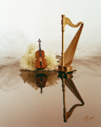 Musical Instruments Photos - String Duet by Judi Quelland