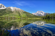Signed Photo Posters - String Lake Reflections LE Poster by Greg Norrell