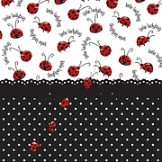 Ladybugs Posters - String Of Ladybugs Poster by Debra  Miller