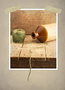 Still Life Photo Prints - String on old Table Print by Ian Barber