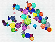 Bubbles Drawings Prints - Stringed Ink Print by Marie Jamieson