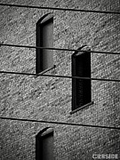 Gray Building Framed Prints - Strings and Frets Framed Print by Chris Berry