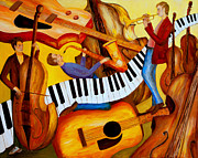 Memphis Paintings - Strings and Things by Larry Martin
