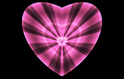 Abstract Hearts Digital Art - Striped Heart by Sandy Keeton