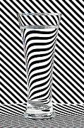 Op Art Photo Posters - Striped Water Poster by Steve Purnell