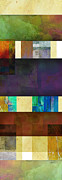 Avant Garde Mixed Media - Stripes and Squares - abstract -art by Ann Powell