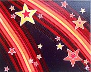 Stripes Prints - Stripes and Stars 4 Series 1 Print by Angela Conley