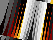 Bold Digital Art - Stripes by David Ridley