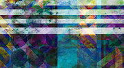 Abstract Art For Sale Digital Art Prints - Stripes Four  -abstract -art Print by Ann Powell