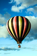 West Wetland Park Posters - Stripped Hot Air Balloon Poster by Robert Bales