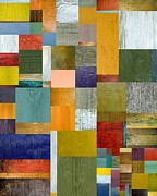 Strips And Pieces V Print by Michelle Calkins