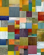 Strips And Pieces Vl Print by Michelle Calkins
