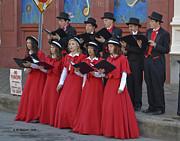 Strolling Choir Print by Allen Sheffield