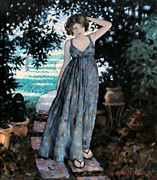 Sundress Prints - Strolling Print by Kevin Lawrence Leveque