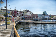 World Showcase Prints - Strolling On The Boardwalk At Disney World Print by Thomas Woolworth