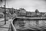 Magical Place Photographs Prints - Strolling on the boardwalk in Black and White Walt Disney World Print by Thomas Woolworth
