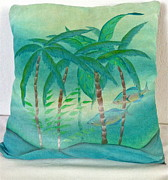 Pillow Tapestries - Textiles - Strolling Through the Palms by Michael Chadd