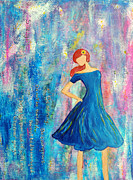 Lauretta Curtis - Strong Girl in blue dress