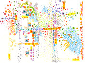 Patterned Drawings Metal Prints - Structure Evolution Metal Print by Regina Valluzzi