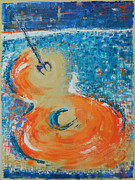 Guitar Painting Originals - Strummin My 6 String by Dan Campbell