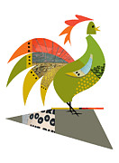 Rooster Kitchen Art Prints - Strut Around Print by Studio Best