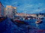 South Of France Painting Originals - St.Tropez  - Port -   France by Miroslav Stojkovic - Miro