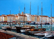 Ports Originals - St.Tropez  - Port - I -  France by Miroslav Stojkovic - Miro