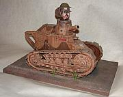 Folk Art Sculptures - Stubbys Tank by Stuart Swartz