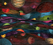Outer Space Paintings - Stuck Between Stations by Logan Hoyt Davis