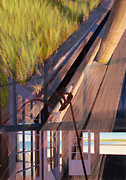 Exposure Painting Prints - Study for Dock of the Bay Print by Jeff Carpenter