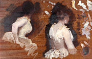 Study For La Danse De Monde Print by Giuseppe or Joseph de Nittis