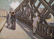 City Streets Framed Prints - Study for Le Pont de l Europe Framed Print by Gustave Caillebotte