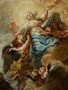 Study For The Assumption Of The Virgin Print by Jean Baptiste Deshays de Colleville