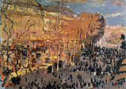 Parisian Street Scene Framed Prints - Study for The Boulevard des Capucines Framed Print by Claude Monet