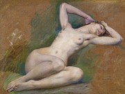 Famous Artists - Study for the figure of Spring by Luc-Olivier Merson