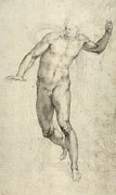 Sketch Painting Prints - Study for The Last Judgement  Print by Michelangelo  Buonarroti