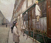 Decorator Framed Prints - Study for The Painters Framed Print by Gustave Caillebotte