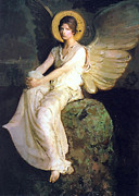 1887 Paintings - Study of Angel 1903 by Stefan Kuhn