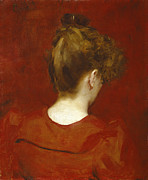 Knot Paintings - Study of Lilia by Charles Emile Auguste Carolus Duran