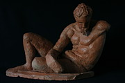 Brown Sculptures - Study of the River God by Flow Fitzgerald