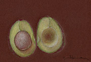 Seed Pod Drawings Posters - Study on Brown Poster by Joyce Blank