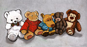 Toys Pastels - Stuffed Animal Friends by Joyce Geleynse