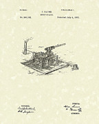 1887 Drawings Prints - Stump Puller 1887 Patent Art Print by Prior Art Design